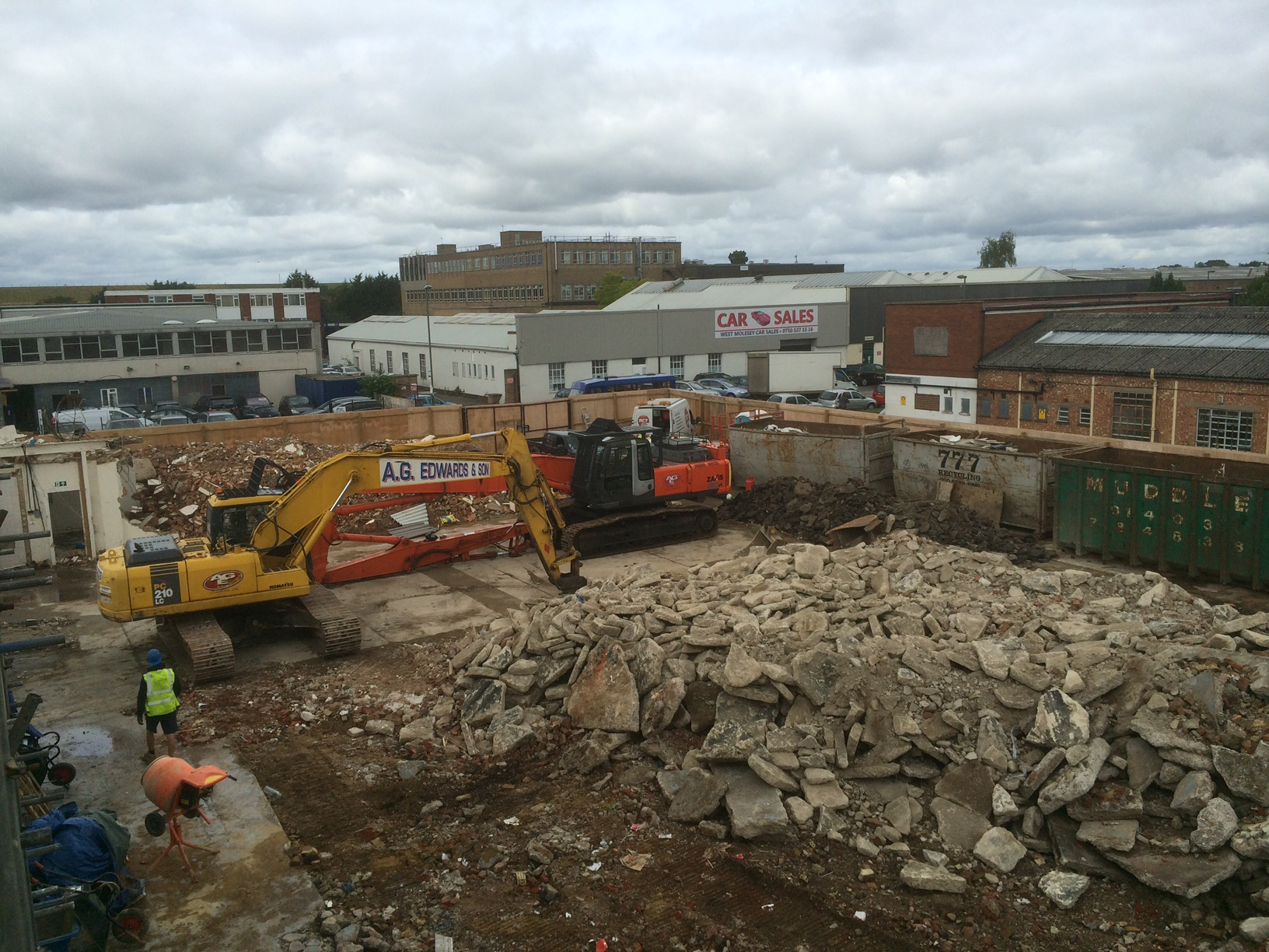 Demolition in Hersham